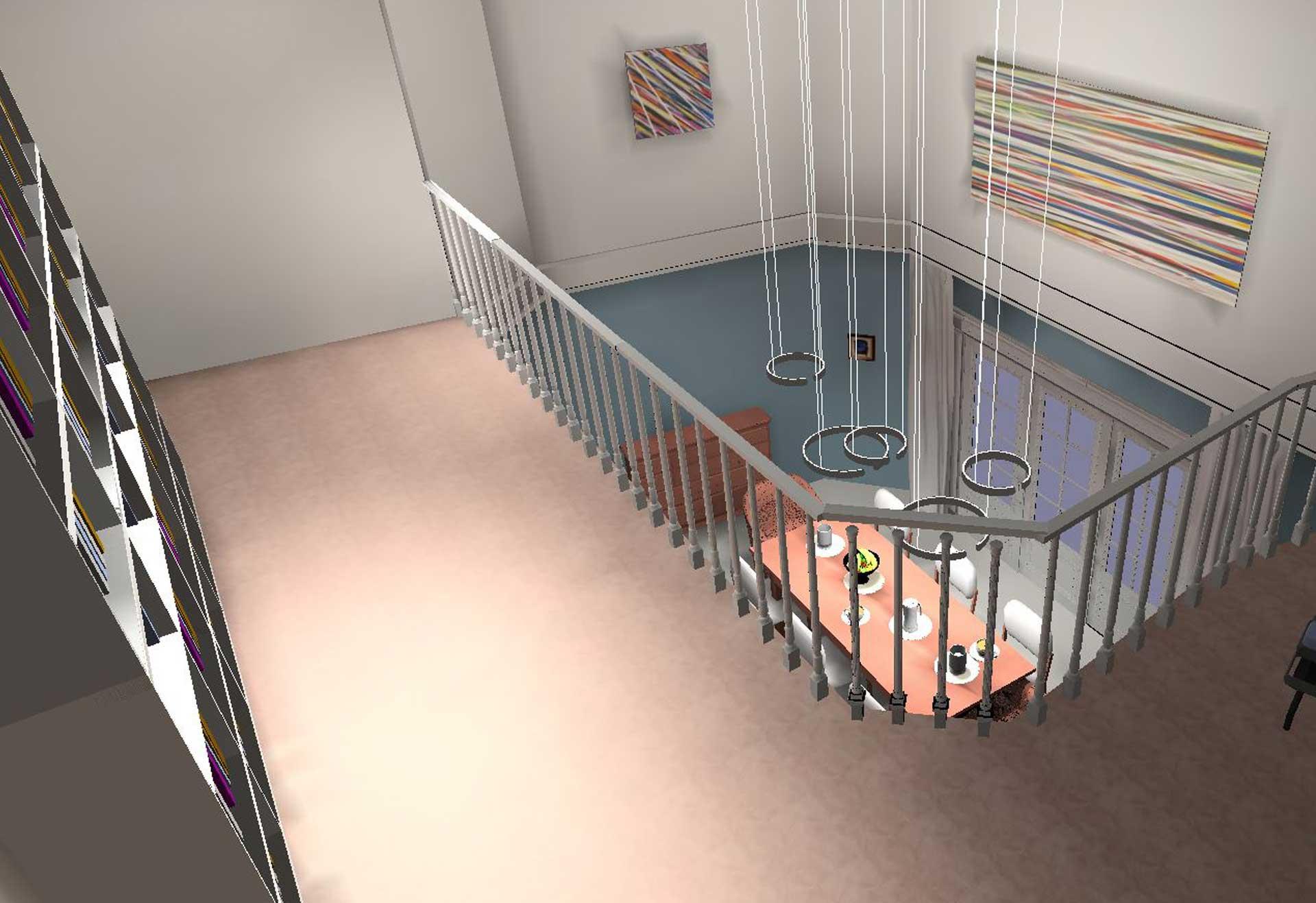 Homogene Lichtwirkung im Esszimmer mit höhenverstellbaren Leuchten